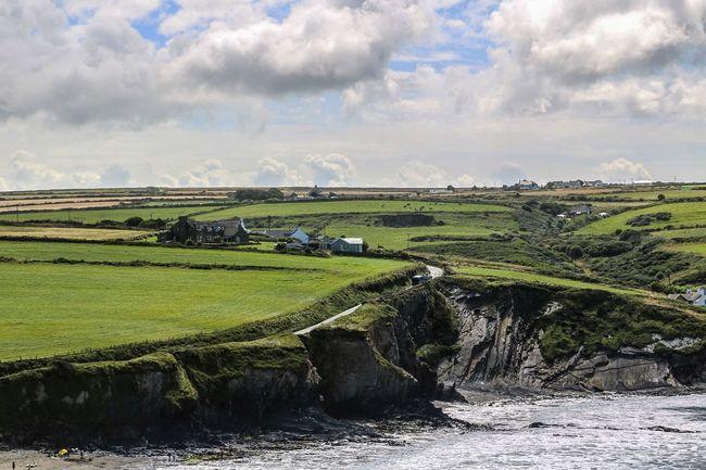 Beauty In Nature Cloud - Sky Coast Coastline Coastline Landscape Green Color Landscape Nature Pembrokeshire Pembrokeshire Coast Tranquility Wales Wales UK Wales❤