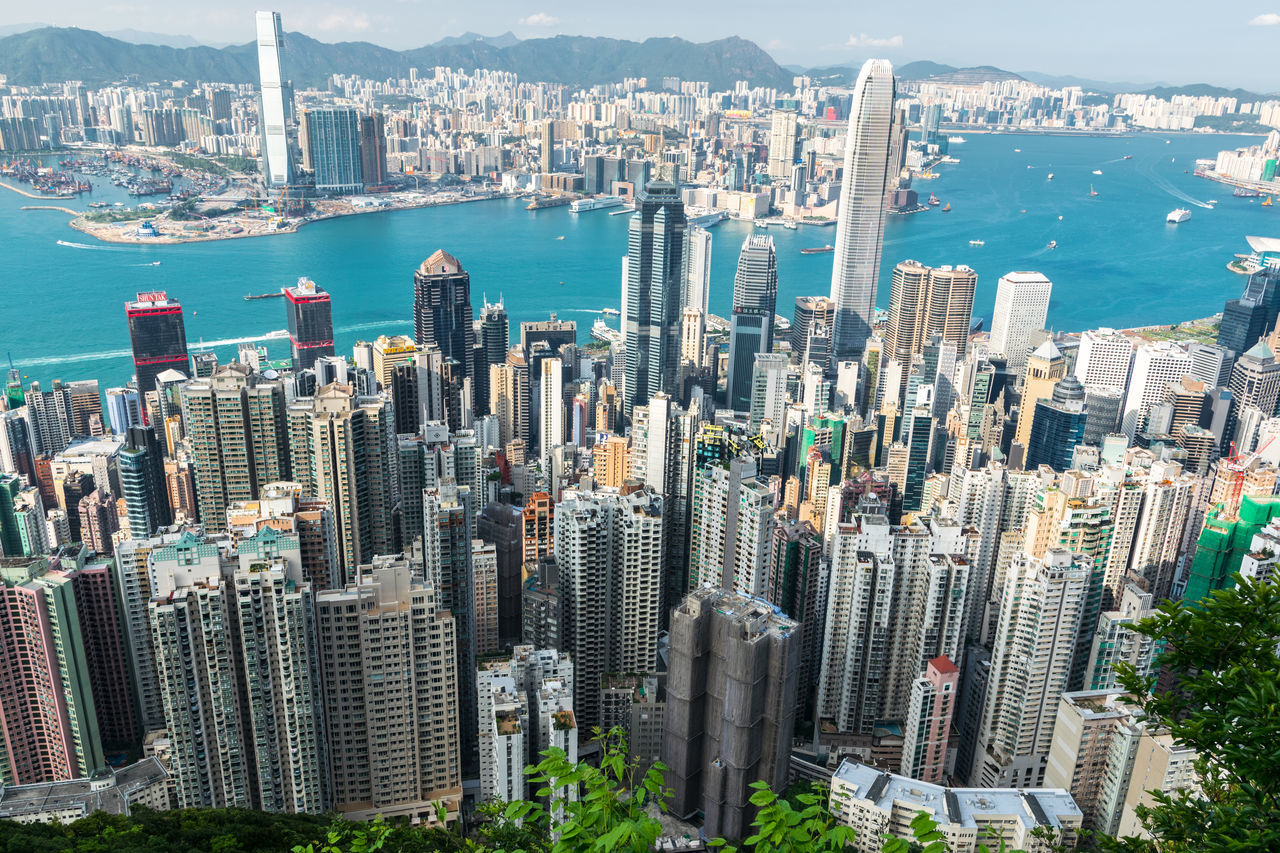 The view of Hong Kong from the Victoria Peak Aerial View Architecture ASIA Building Building Exterior Built Structure City City Cityscape Crowded Downtown District Financial District  High Angle View Hong Kong Kowloon Modern Outdoors Skyscraper Tower Travel Destinations Victoria Peak Water at Victoria Peak, Hongkong The Architect - 2017 EyeEm Awards The Architect - 2017 EyeEm Awards The Architect - 2017 EyeEm Awards