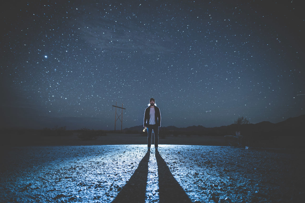 Learn & Shoot: After Dark hoping this homie wants to chat instead of crack the bottle on my skull 😅 Night Photography Starry Sky Justgoshoot Get Out Stay Out Miles Away TCPM