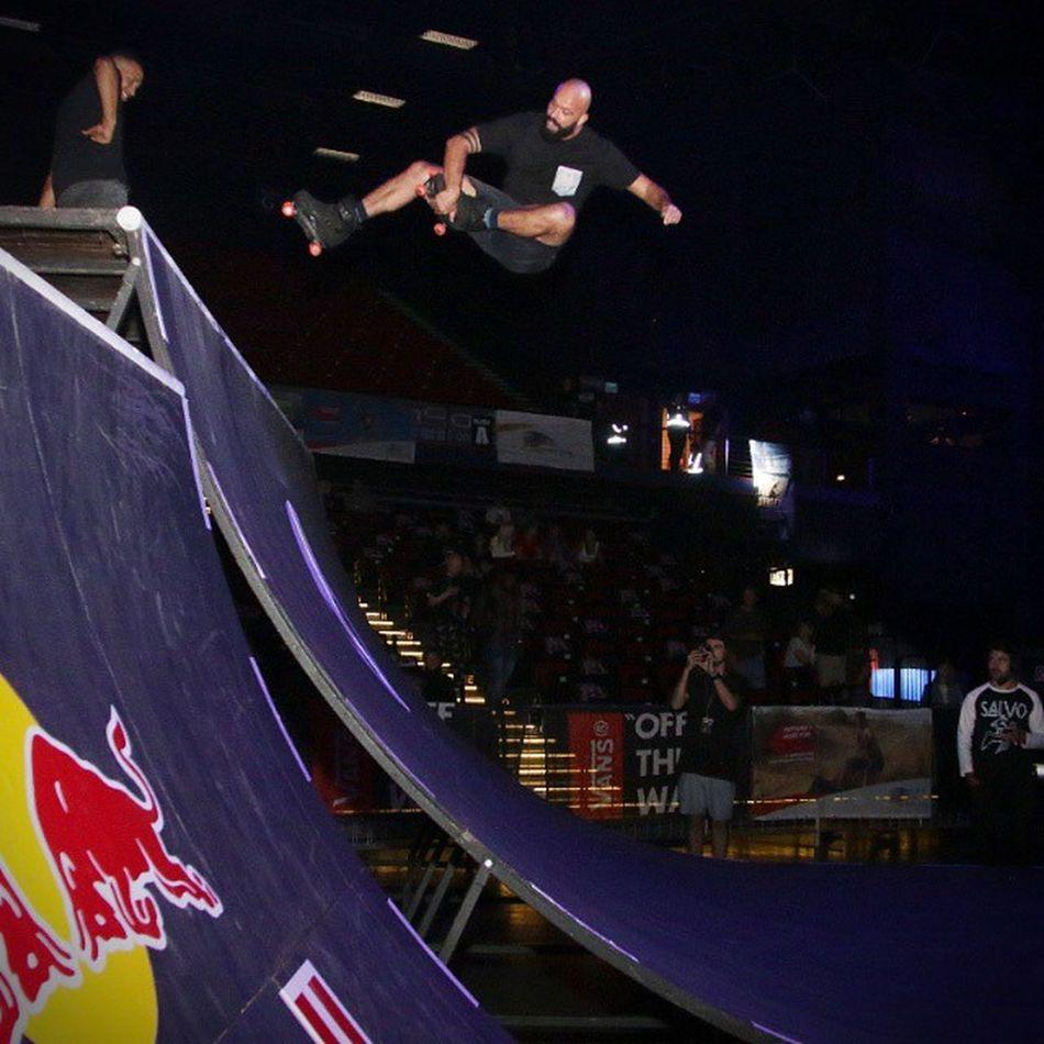 Real men roller skate..... And in a half pipe! @ultimatex_ 2015 Halfpipe Rolerskates Ultimatex2015 Radical Realmen Shooteditsleeprepeat