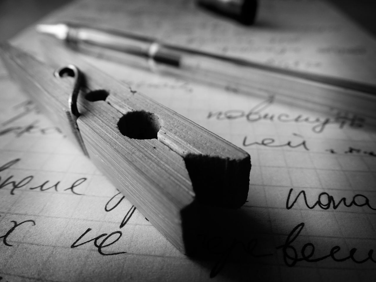 paper, still life, indoors, text, handwriting, close-up, education, no people, page, arts culture and entertainment, musical note, formula