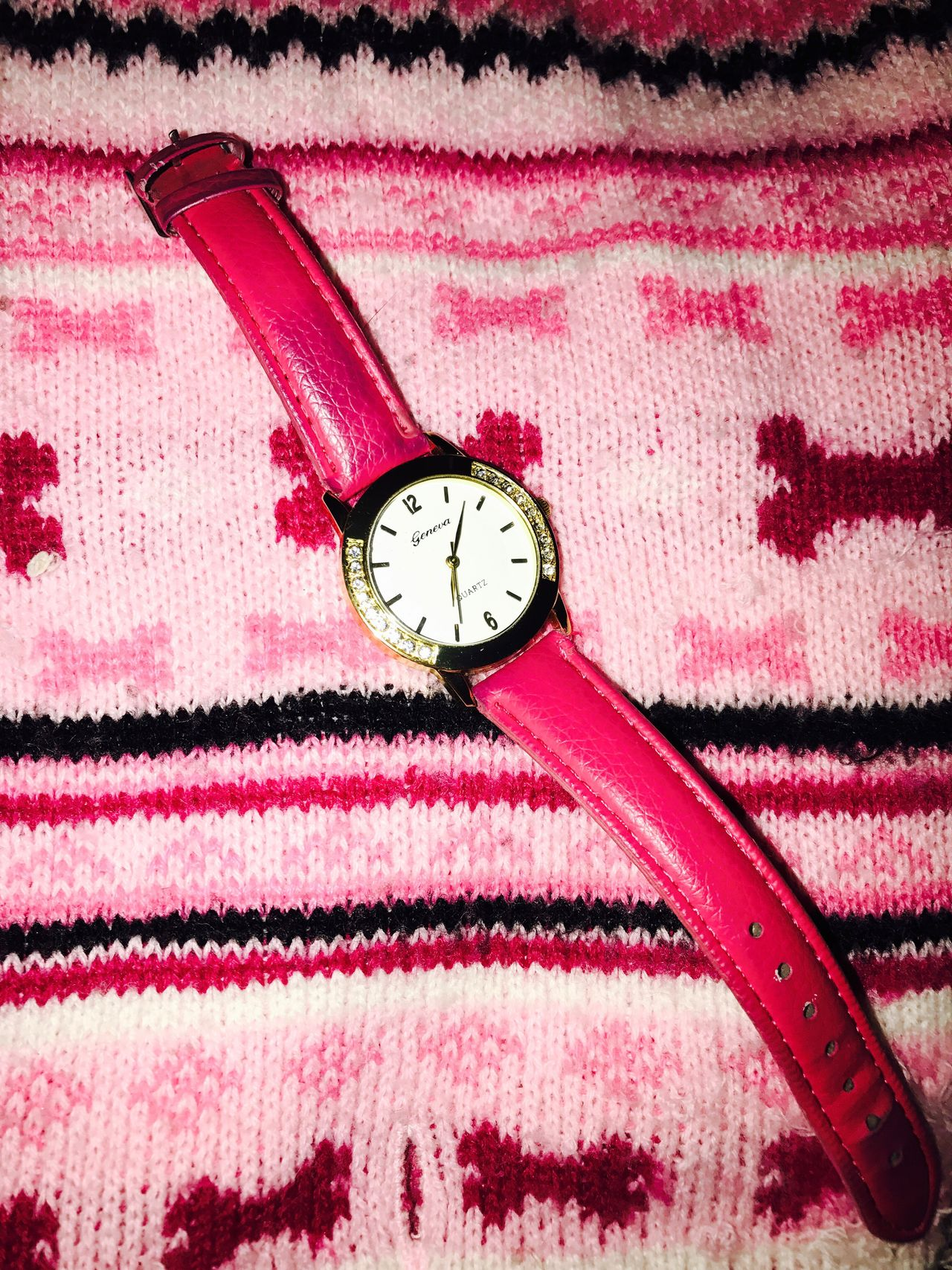 Millennial Pink Watch Pink Sweater Bright Colors Colors Time