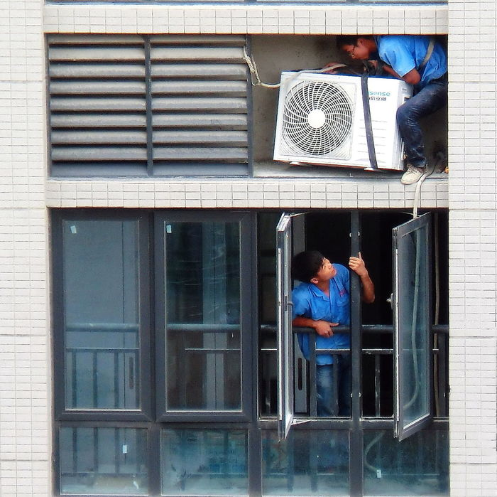 Air Condition Air Conditioning Units Dangerous Work High Rise Building High Rise Life Installation Work The Architect - 2016 EyeEm Awards The Great Outdoors - 2016 EyeEm Awards The Photojournalist - 2016 EyeEm Awards The Portraitist - 2016 EyeEm Awards The Street Photographer - 2016 EyeEm Awards Working Out