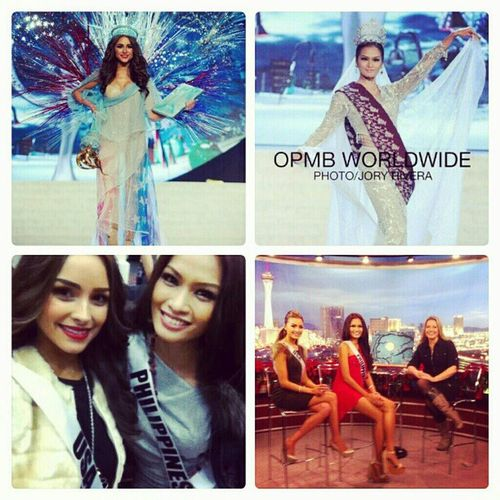 @oliviaculpo @janinetugonon I just love how Miss USA and PHILIPPINES are creating a good atmosphere, I admire their friendship. Either of these two beauties deserves the crown! Missuniverse Missusa Missphilippines Stunning beauties