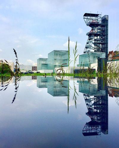 The Architect - 2017 EyeEm Awards Reflection Sky Architecture Katowice Silesia Puddle Puddleography Puddle Reflections Symmetry Symmetrykillers