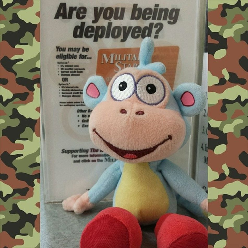Are you being deployed? Then bring Boots with you wherever you go.... :) Boots Dora_the_explorer Deployed Deployment al_udeid USAF
