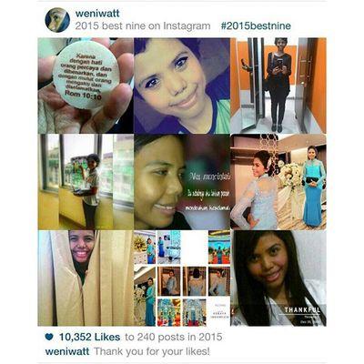 2015bestnine Setahun bersama Instagram Thanksforlikes 🙌🙌🙌