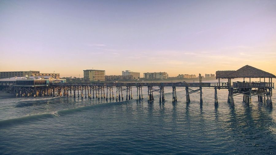 Sunset Sky Outdoors Architecture No People Building Exterior Built Structure Sea City Day Cityscape Water Cocoa Beach, Florida Pier Sunrise Aerial View Joeperales Dji Phantom Brevard Photographer