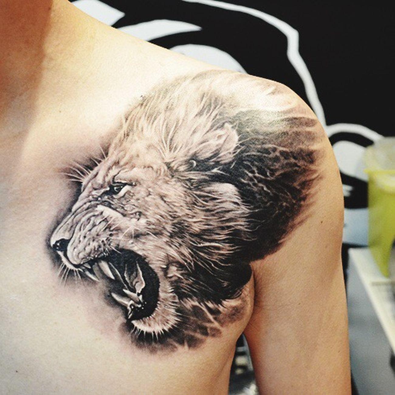 Heart Like A Liont ❤️ Tattoo