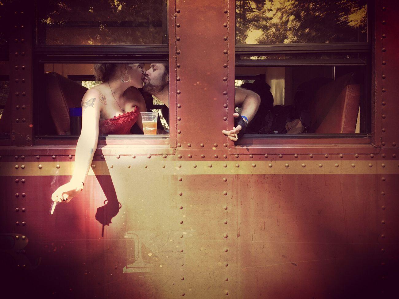 Train Ride Not My Pic Cuteness Lifestyles Smoking Girl Boy Kiss Train Skunk Train Skunk Train Willits California To Fort Bragg California California Love