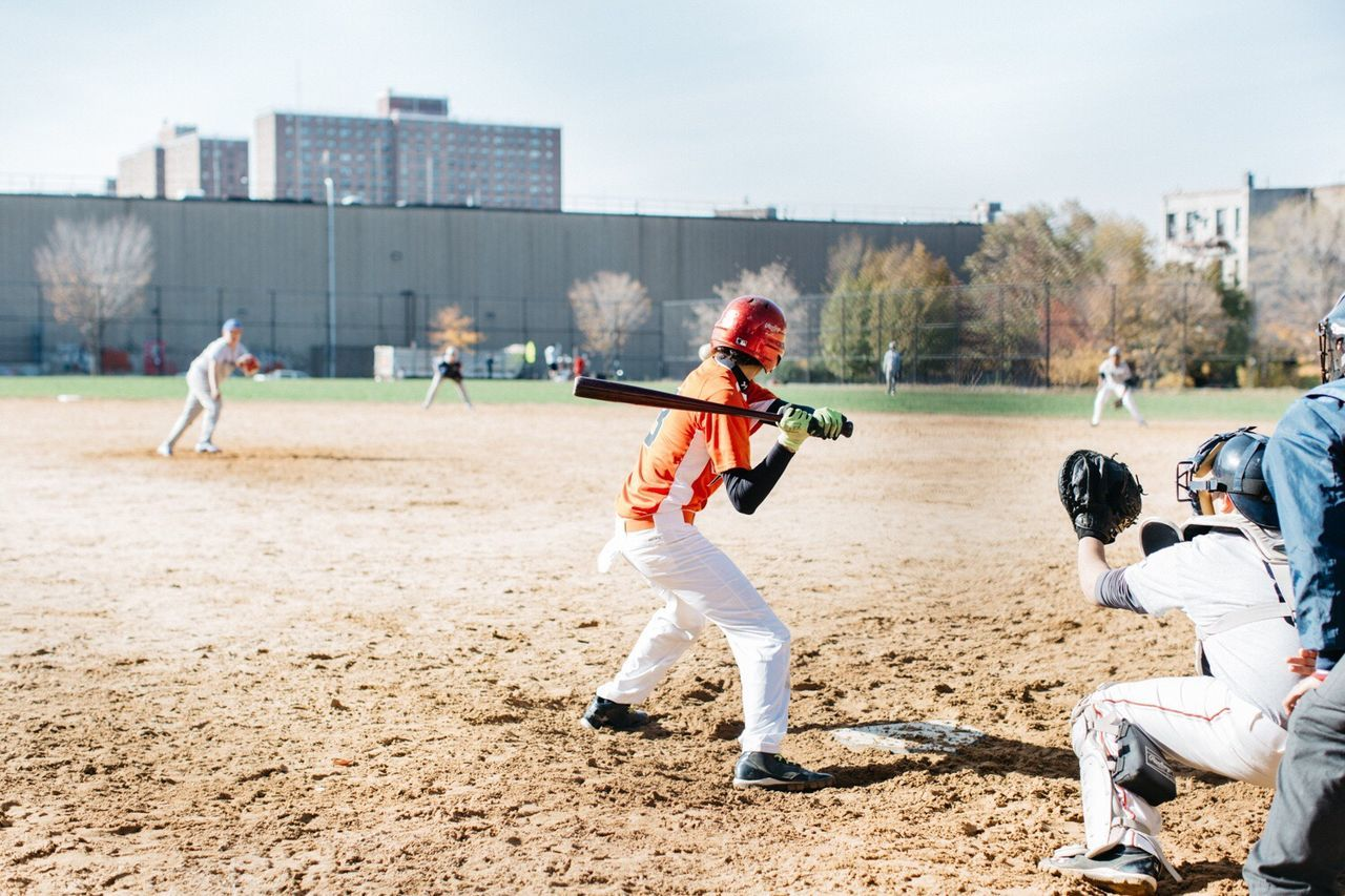 Brooklyn Baseball Kids New York Game Looking Into The Future Orange By Motorola Capture The Moment