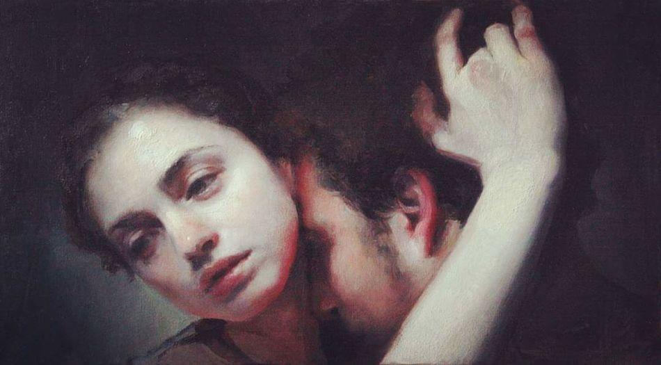 – Ella me parece muy triste. – Esta enamorada. – ¿Por qué es triste eso? – Porque nunca dura. – ¿Y él? Parece no tener duda alguna. – No lo sé, no vemos sus ojos. – Pero que no dure no implica que no sea amor ¿verdad? *Alone Together pintado por Maria Kreyn.