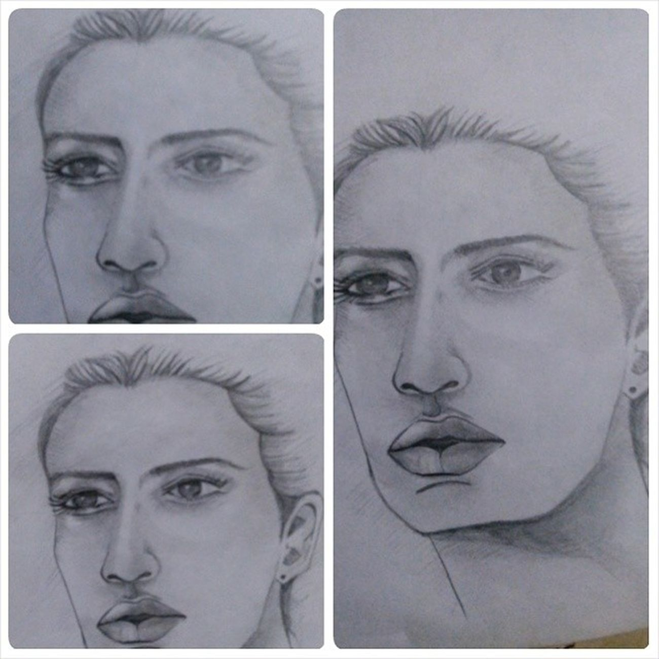 portrait Pamugas Pencil Sketch Illustration creative drawing