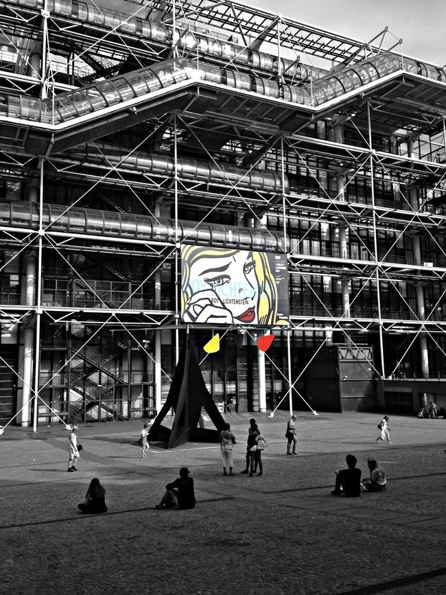 Architecture Paris Blackandwhite Colorsplash