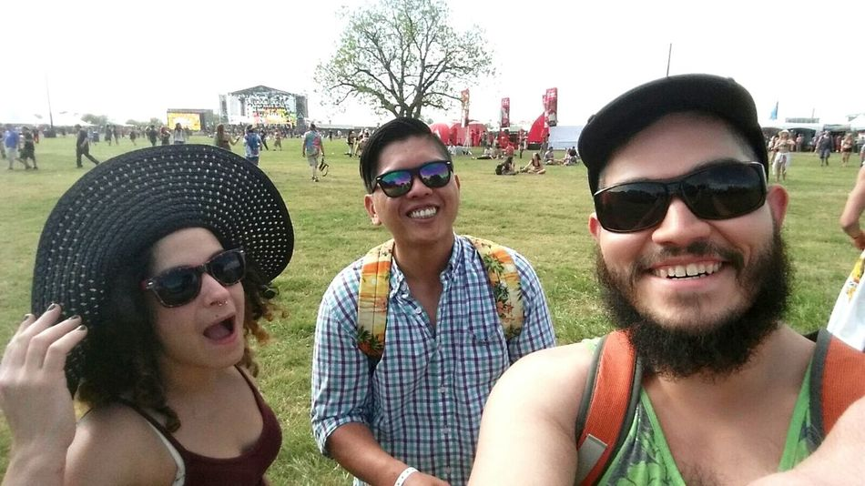First day of Euphoria Hello World Hanging Out ATx Enjoying Life Friends Chillax Euphoricamp. Bass Necter Polish Ambassador Above And Beyond Lil Dicky Molly Preety Lights Rageface Nohands Suh Dew Hawaiian