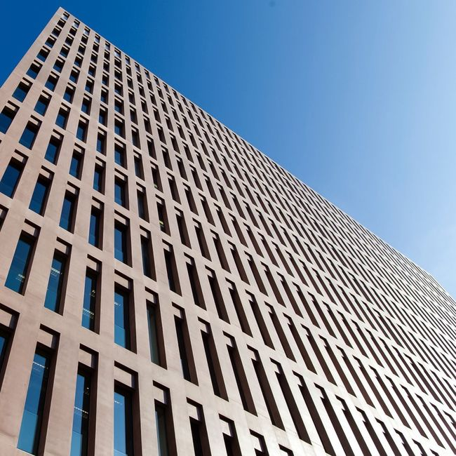 Architecture Building Building Exterior Built Structure City Ciutatdelajusticia, Day Development Exterior Geometry Low Angle View Modern Office Building Outdoors Skyscraper Structure Tall Tall - High Tower Urban Window