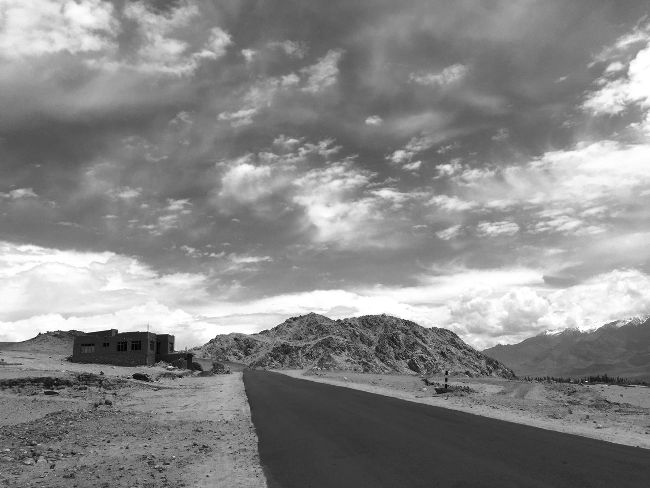 cloud - sky, mountain, sky, nature, day, scenics, sand, outdoors, mountain range, no people, tranquility, beauty in nature, landscape, road