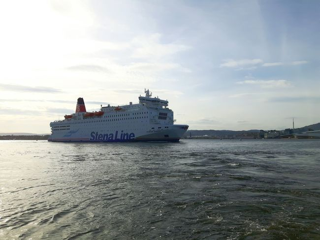 Stena Line Stena-Line Stenaline Prom Ferry Ferry Passengers Water Sea Cloud - Sky Cloud Oslofjord Oslo Fjord