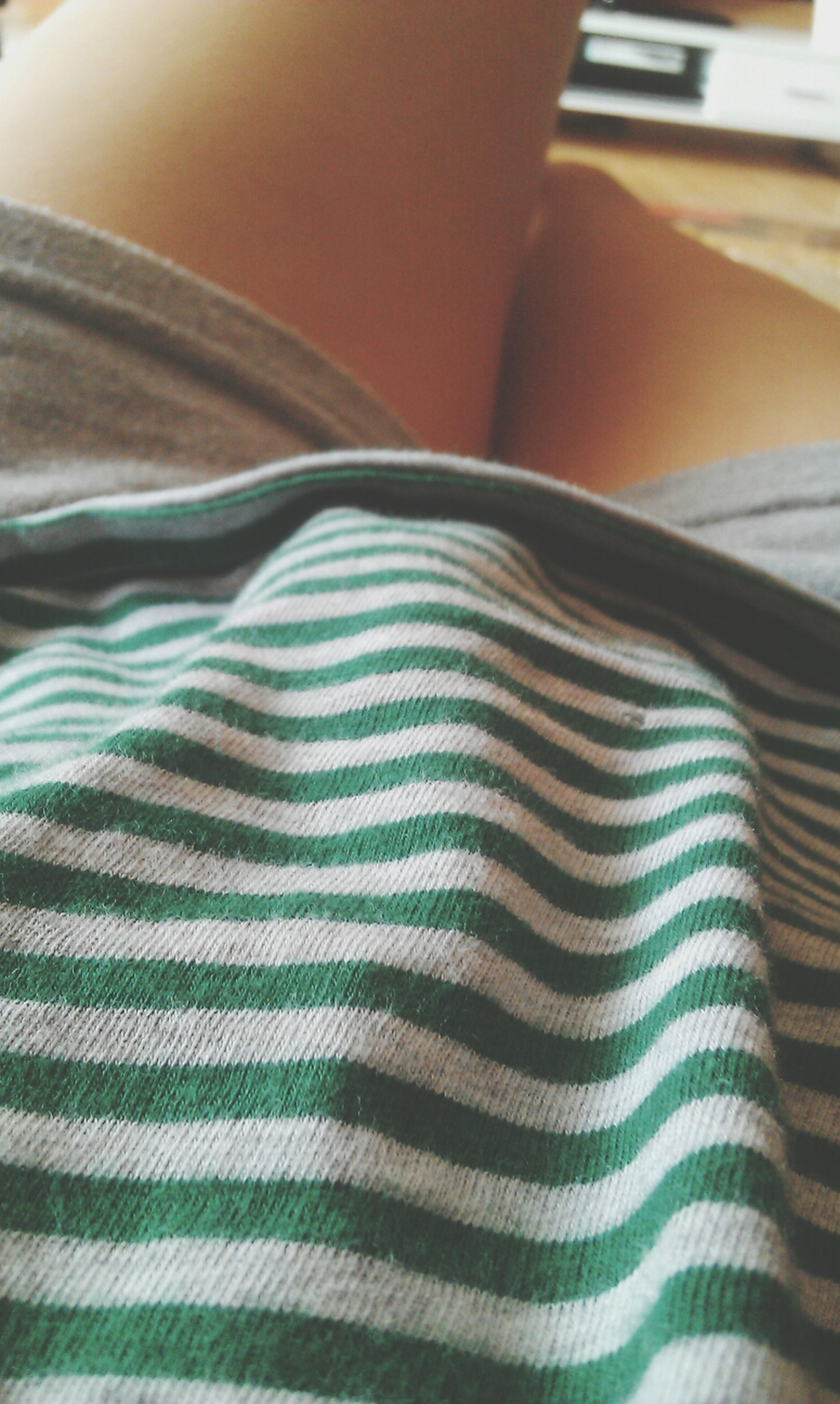 indoors, bed, textile, fabric, close-up, pattern, home interior, relaxation, sheet, one person, bedroom, full frame, part of, striped, high angle view, sofa, pillow, blanket, detail