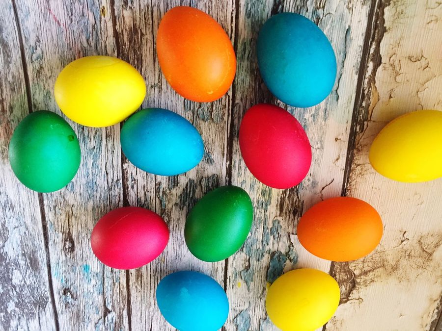 Multi Colored Easter Colorful Variation High Angle View Easter Egg No People Indoors  Paint Easter Eggs Eggs... Colors Eggs Colorfull Painting Eggs Easter Traditions Easter Preparations Colors Of Life Foodporn Eggs For Breakfast Food Color Palette Eating Colorful Eggs