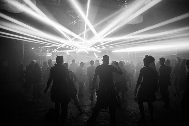 Black & White Blackandwhite Crowd Dancing Drugs Enjoyment Fun Hardcorelife Large Group Of People Laser Lifestyles Light Beam Night Nightclub Nightlife Party Rave Strobes Weekend