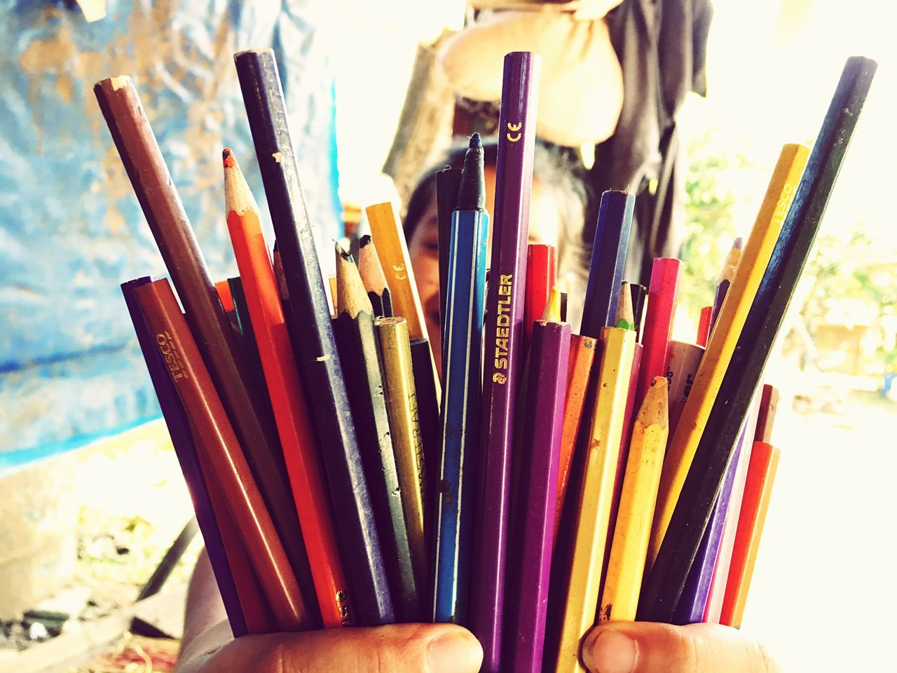 Multi Colored Variation Large Group Of Objects Indoors  Close-up No People Day Coloring Pencils