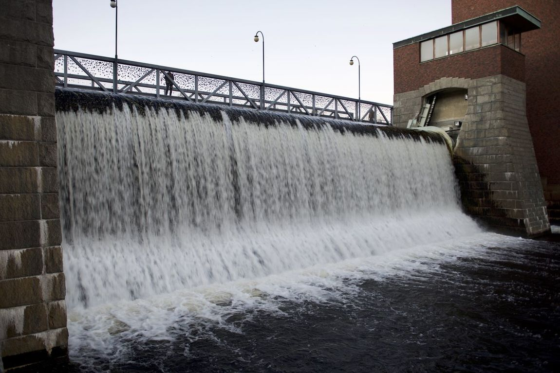 Architecture Building Exterior Built Structure Day Engineering Flowing Flowing Water Industry Motion Nature Outdoors Power In Nature Renewable Energy Sky Splashing Surrounding Wall Wall - Building Feature Water Waterfall Waterfront