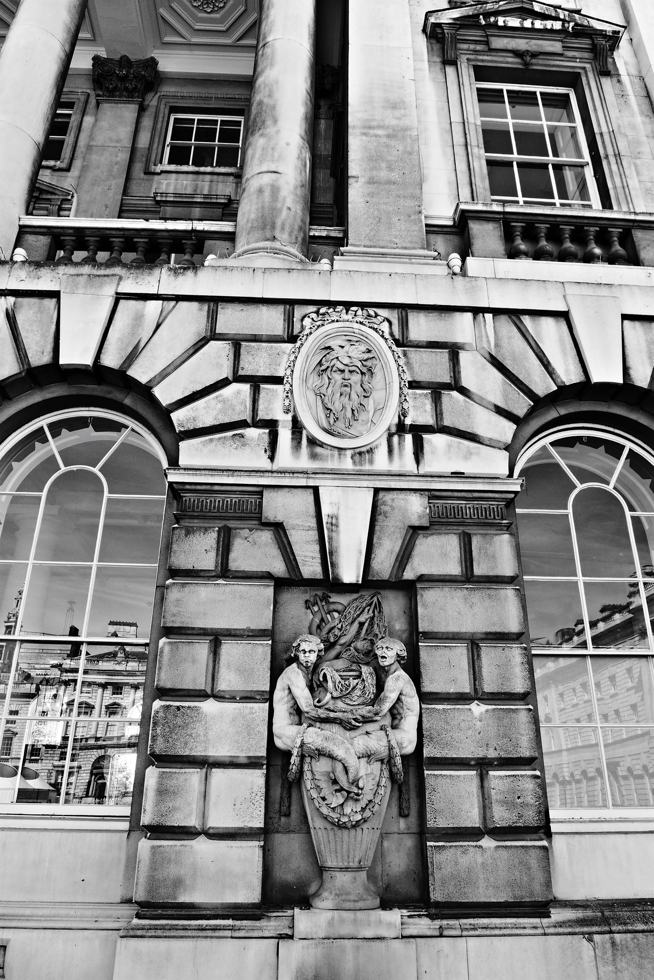 Architecture Beautiful Stonework Black & White Colonial Empire Historical Building Somerset House