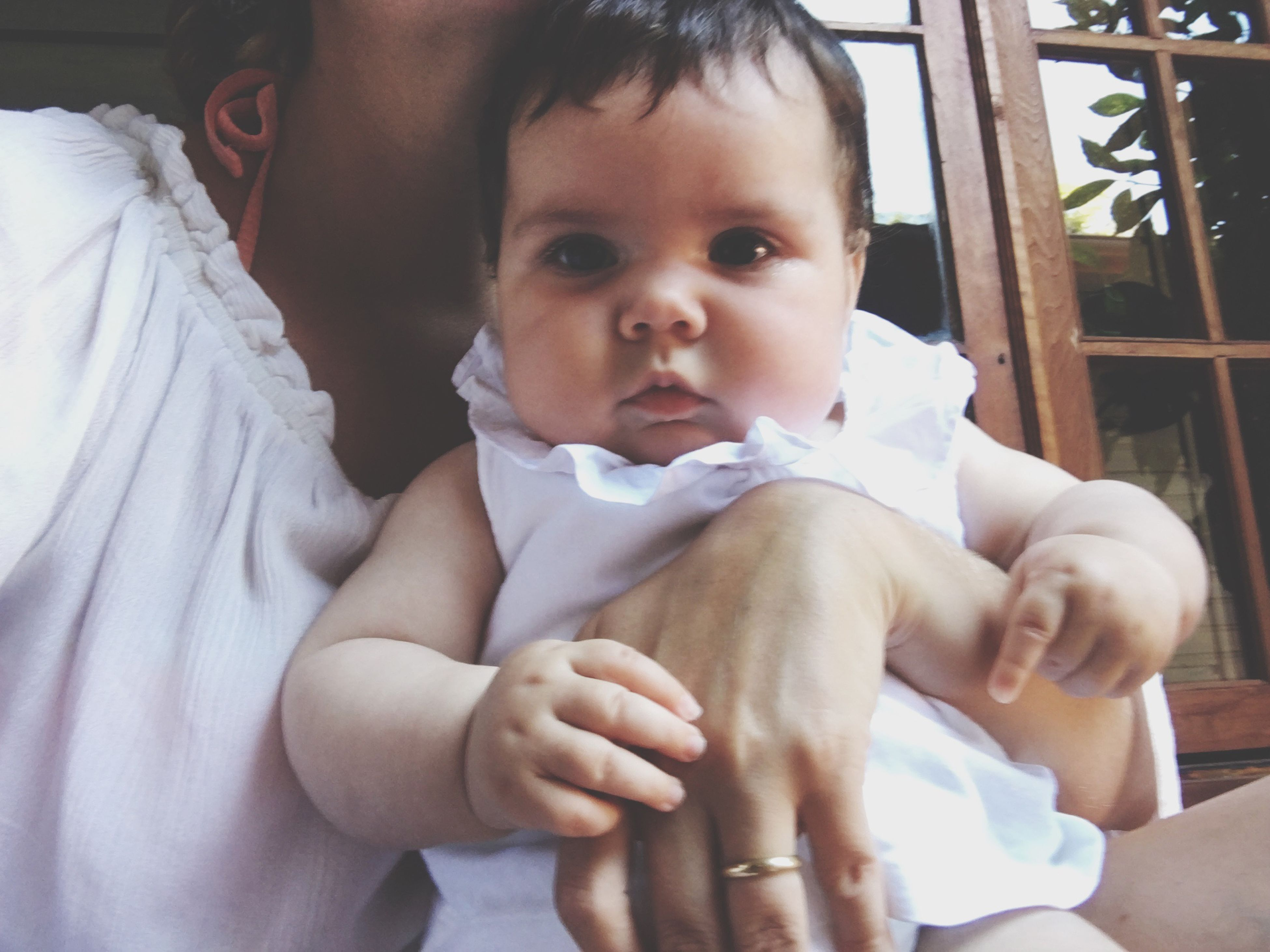 real people, love, baby, two people, babyhood, bonding, indoors, childhood, innocence, lifestyles, togetherness, leisure activity, care, day, newborn, close-up, young women, hugging, human hand