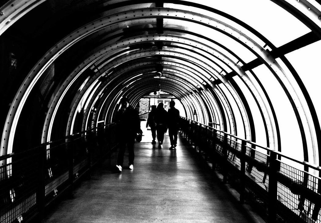 Paris Tunnel Centre Pompidou Trip Culture People Black & White Contrast And Lights Canon600D Walking Built Structure