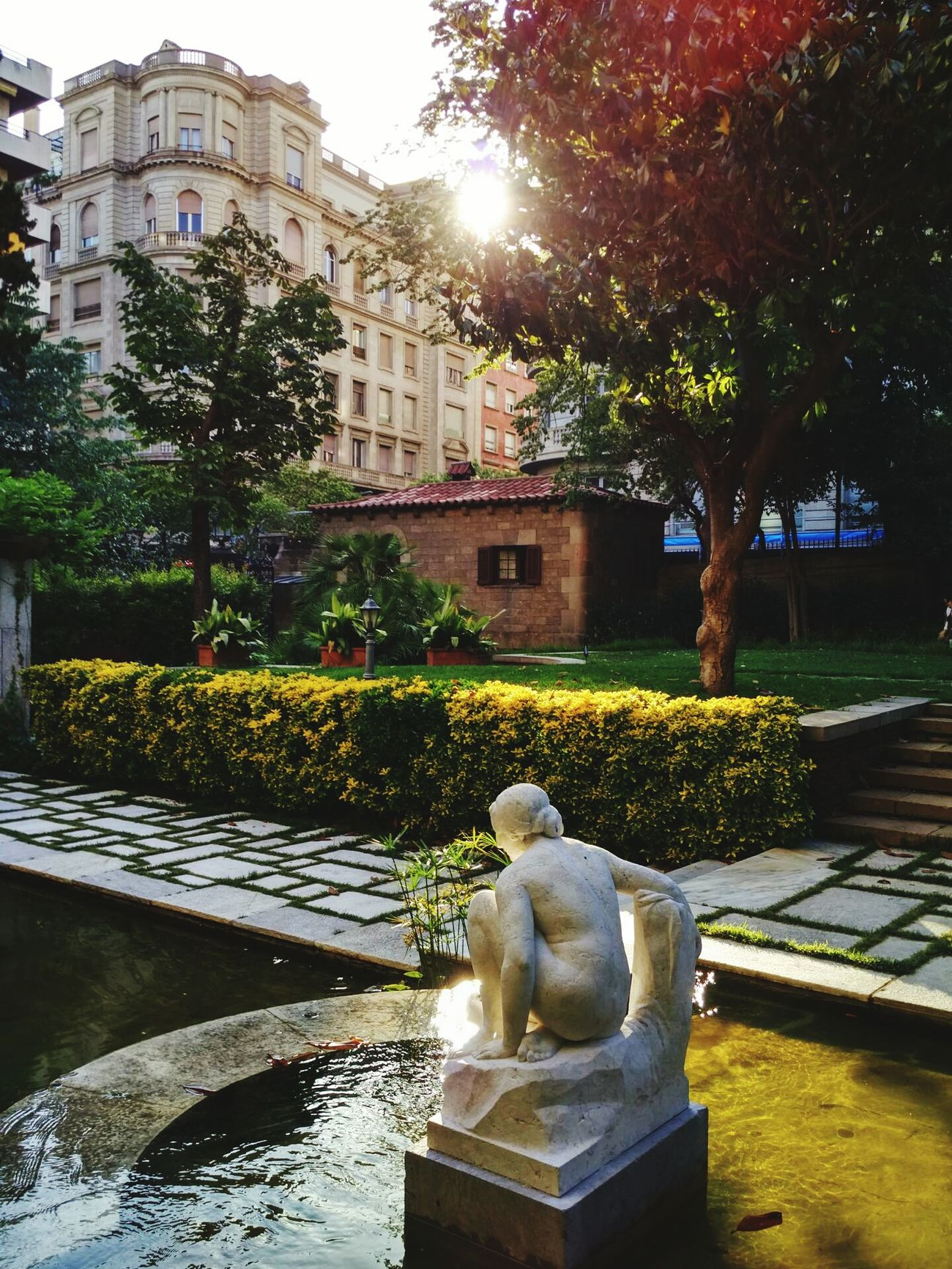 Urban Oasis || Walking Around Barcelona Teengrapher Eyeemteen Garden Photography Sculpture Oasis Heaven Urban Oasis Discover Your City Enjoying The Sun City City Life Urban Landscape Summer2016 SPAIN Catalunya Catalonia Barcelonainspira Barcelona Secreta Barcelona Streetphotography Park Secret Garden Relaxing Urbanexploration