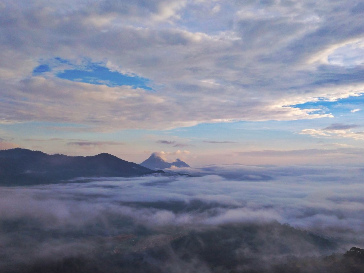 The K2; Gunung Kenderung & Gunung Kerunai 🌄 Gunungkenderung Gunungkerunai Scenics Cloud - Sky Mountain Sunset Dramatic Sky Landscape Beauty In Nature Tranquility Pastel Colored Outdoors No People Nature Travel Destinations Blue Day Sky Beauty Perak Darul Ridzuan, Malaysia