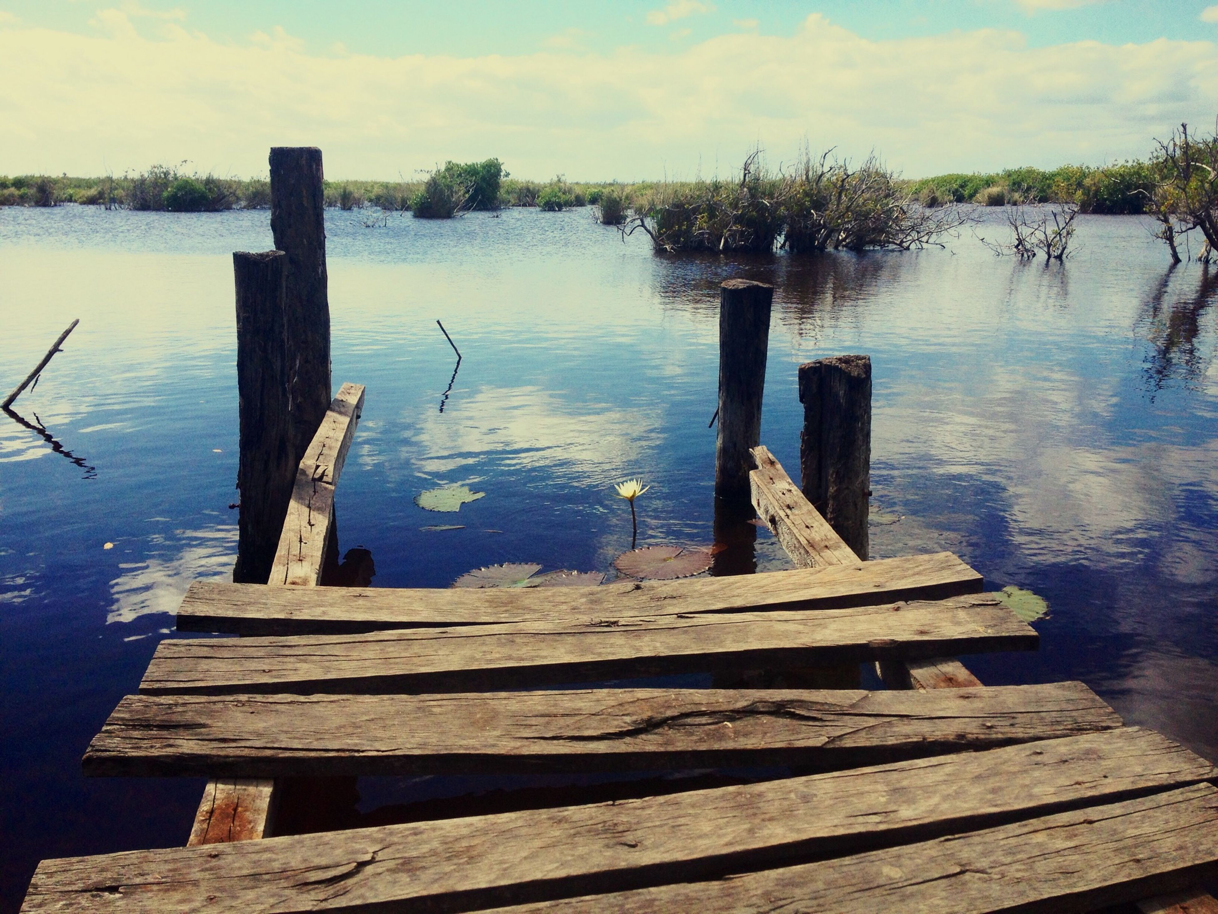 water, lake, pier, wood - material, reflection, jetty, tranquility, sky, tranquil scene, wood, built structure, wooden, nature, river, scenics, day, waterfront, outdoors, the way forward, no people