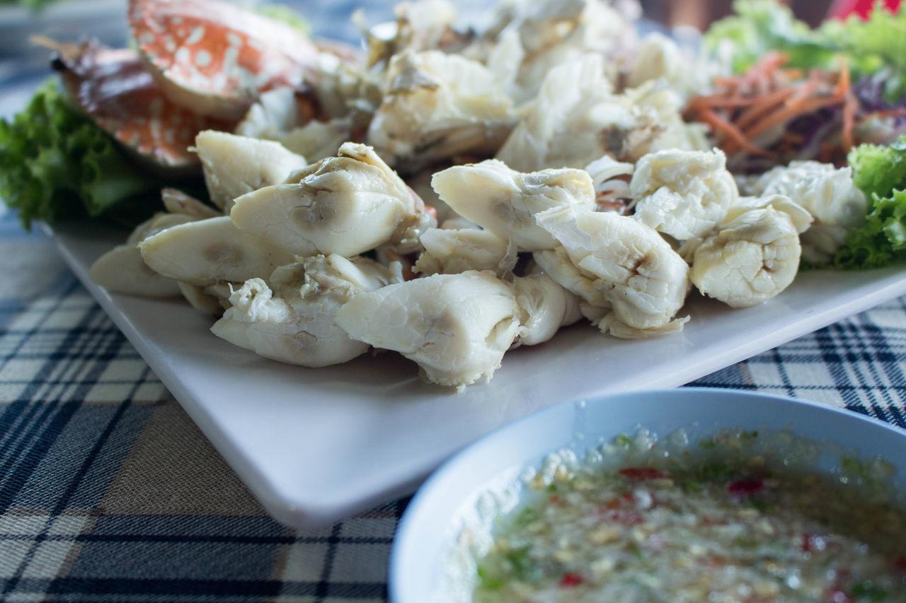 ปูนึ่ง น้ำจิ้มแซ่บ Crab Seafood Steamed Crab Thai Restaurant Thai Seafood ปู ปูนึ่ง ร้านอาหารไทย อาหารทะเล