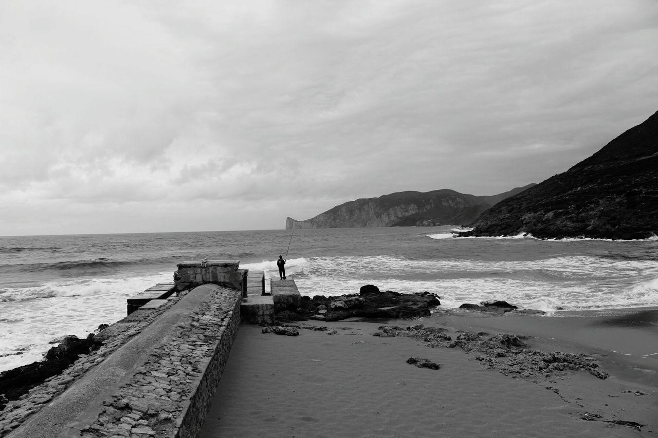 Sea Beach Awe Cliff Coastline Scenics Horizon Over Water No People Landscape Outdoors Day Italy🇮🇹 Canon1300d Nature Sardinia Sardegna Pandizucchero Fontanamare Sulcis Biancoenero