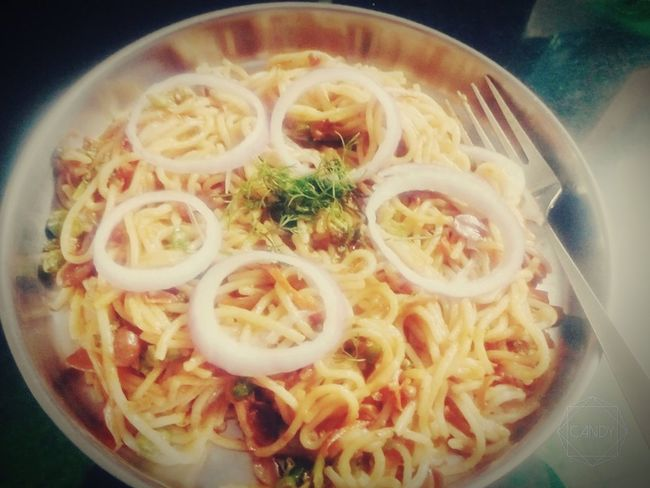 Yummy noodles :* Chef's Basket Enjoying Food Check This Out Made By Me Hot Sauce First Eyeem Photo