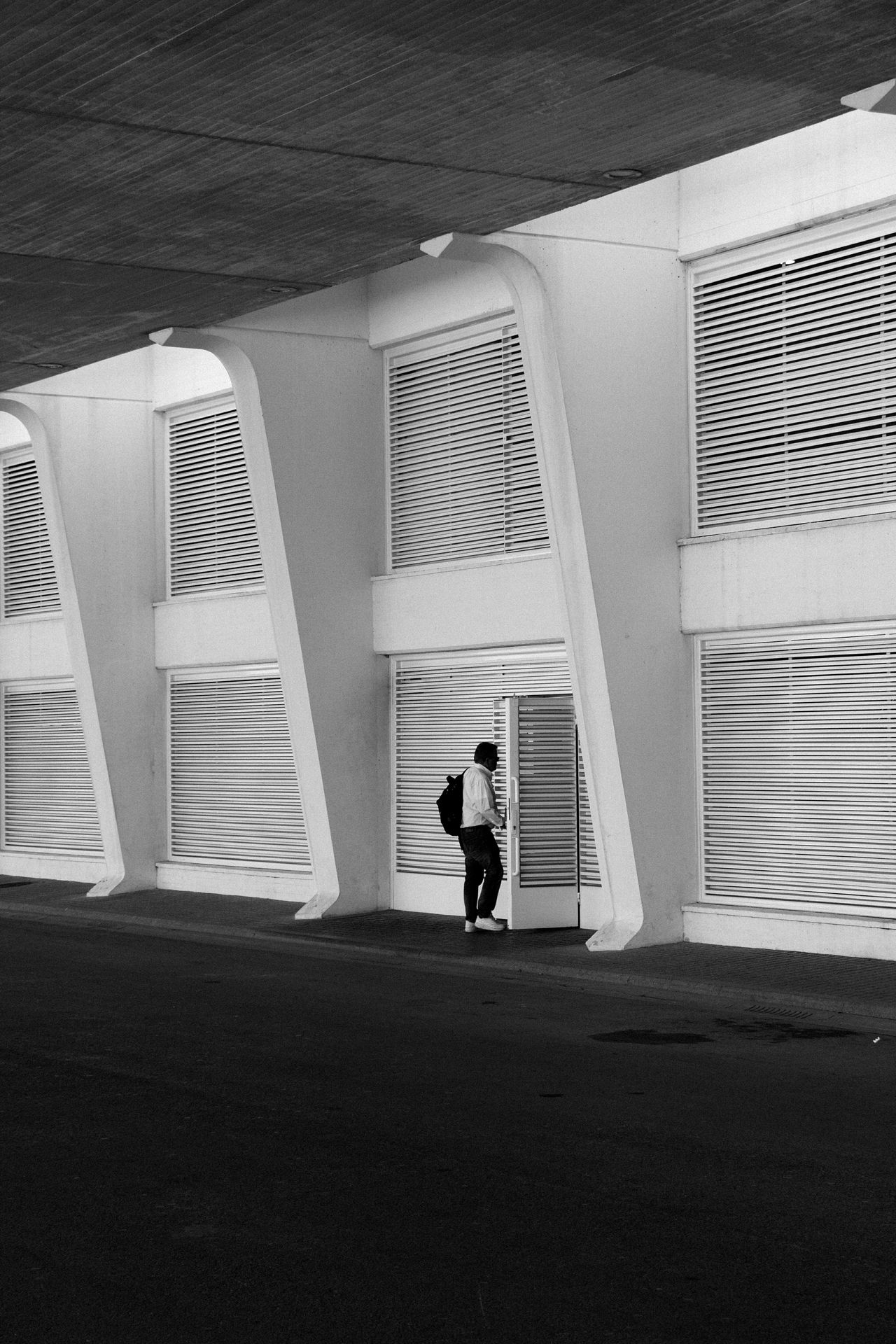Real People Black & White B&w Modern Architecture Architecture Black & White Architecture B&w Architecture B&w Modern Architecture Modern Art Architecture_collection Blackandwhite City Life Simple Architecture Cityscapes HighResolution Built Structure Shadow One Person Full Length Lifestyles Simple Photography Wallpaper Creativity Indoor