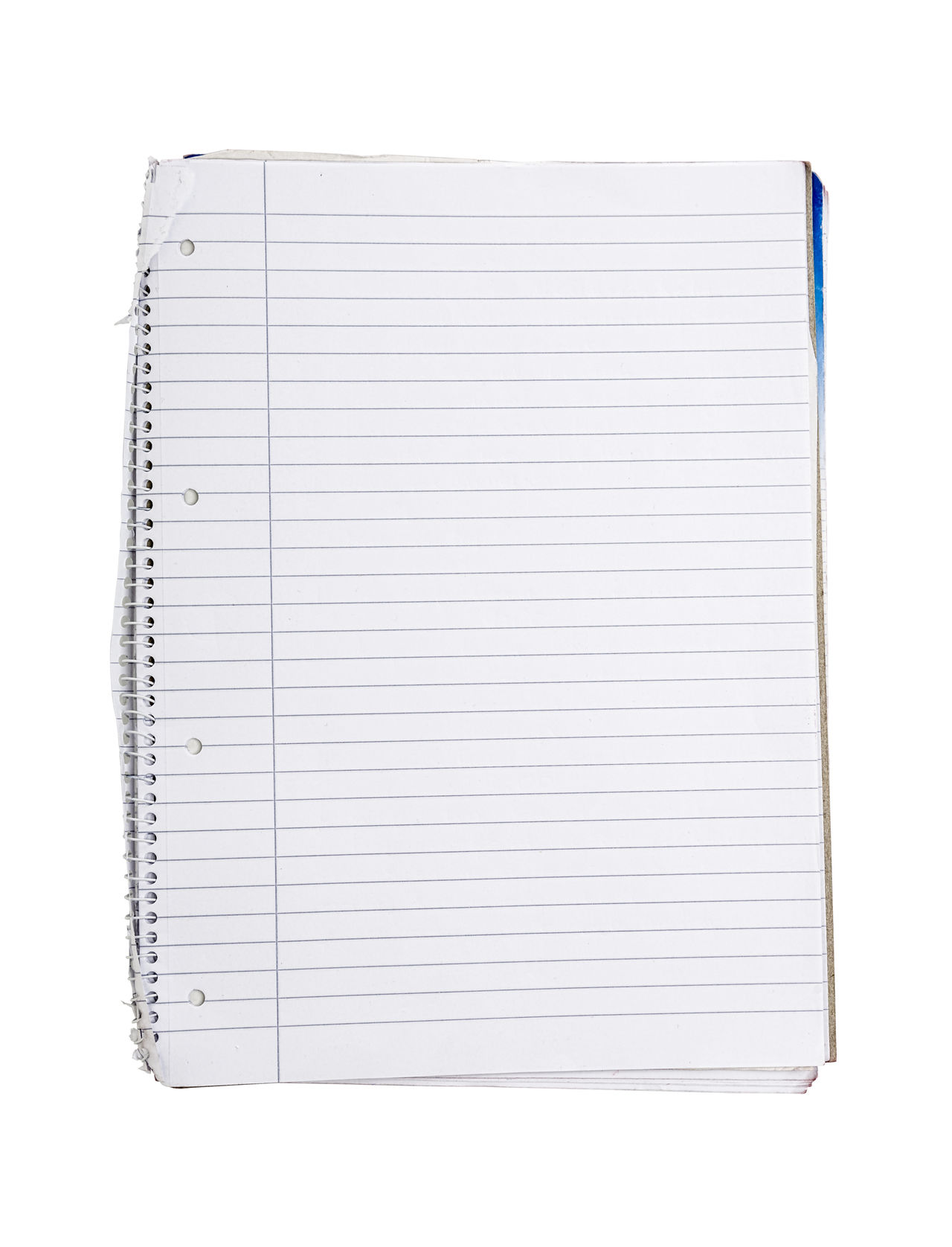 Binder Blank Book Business Copy Space Design Diary Empty Isolated Lines Note NotePad Object Office Page Paper Ringbinder School Template Textbook White Write