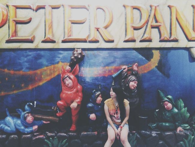 """""""Never is an awfully long time."""" Selfie Peterpan Starcity Flashback"""