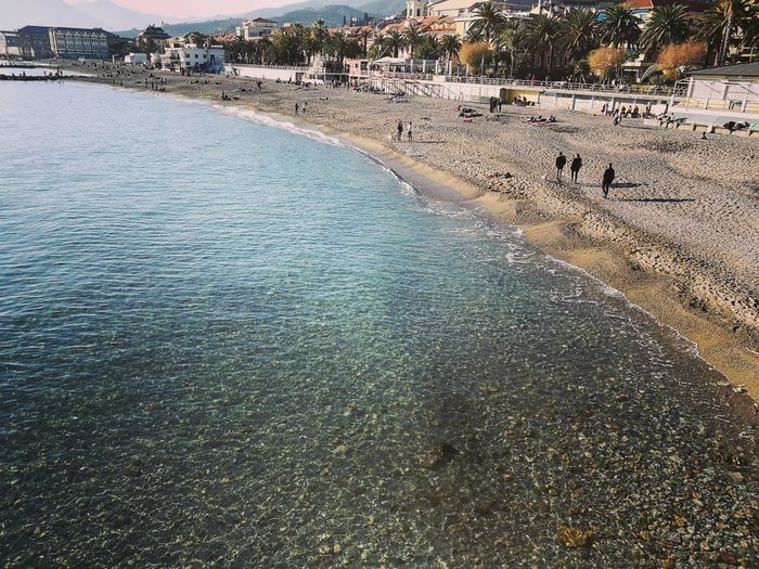 Nature Water Nature Beauty In Nature Outdoors Scenics Day Sand Refraction Tree No People Beach Sky Pietra Ligure