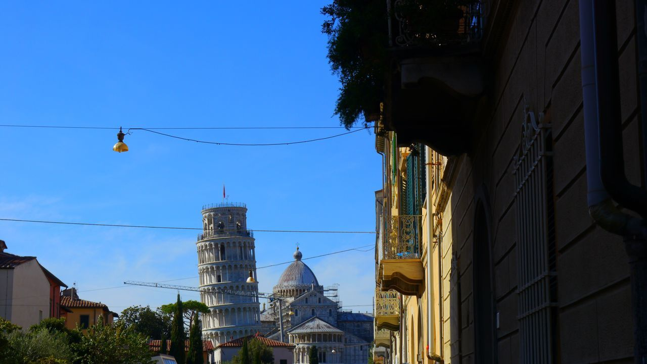 Building Exterior Architecture Built Structure City Low Angle View Clear Sky Residential Building Outdoors No People Sky Day Pisa Pisa Tower Pisa, Italy