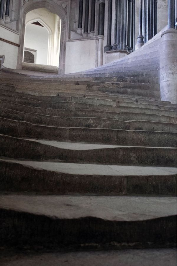 Wells Cathedral,Somerset Steps Architecture Staircase Steps And Staircases History Built Structure Architectural Column Building Exterior No People Day Indoors