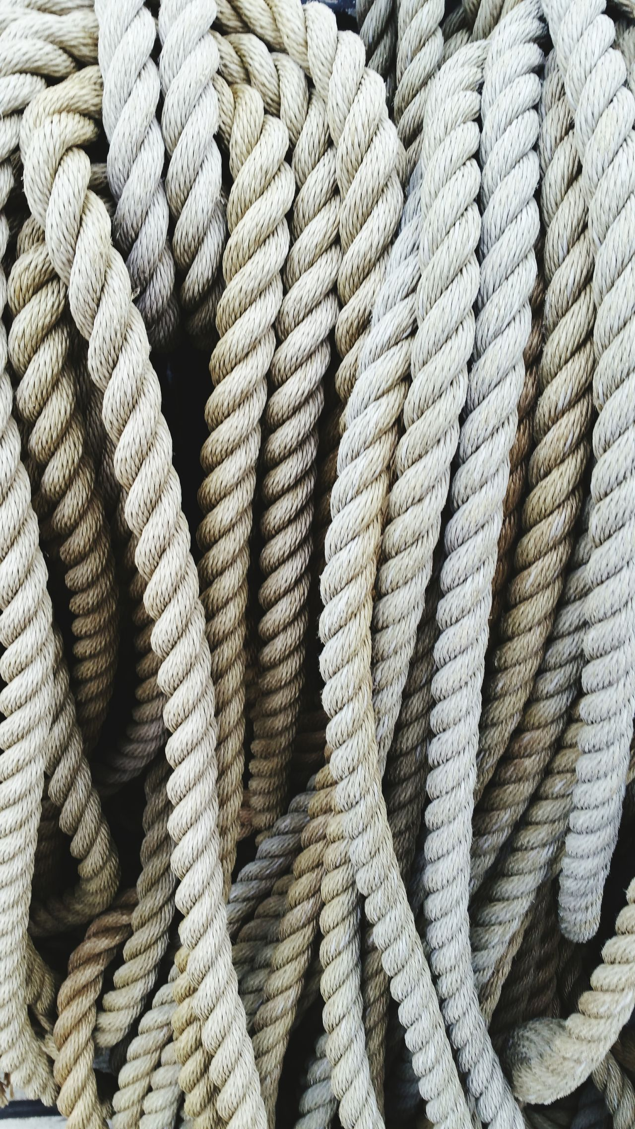 Textures And Surfaces Rope Close-up Nautical Equipment Thick Twist Tool White Grey Strong Sealife Art