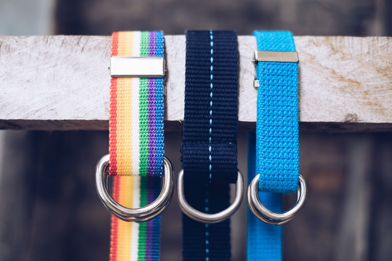 A thing I can't live without. Accessories Belt  Belts Buckle Canvas Casual Close-up Fabric Fashion Favorite Hanging Lines Loop Multi Colored Order Pattern Personal Rugged Strap Unisex Variation Weave Webbed Wood - Material Lieblingsteil EyeEmNewHere