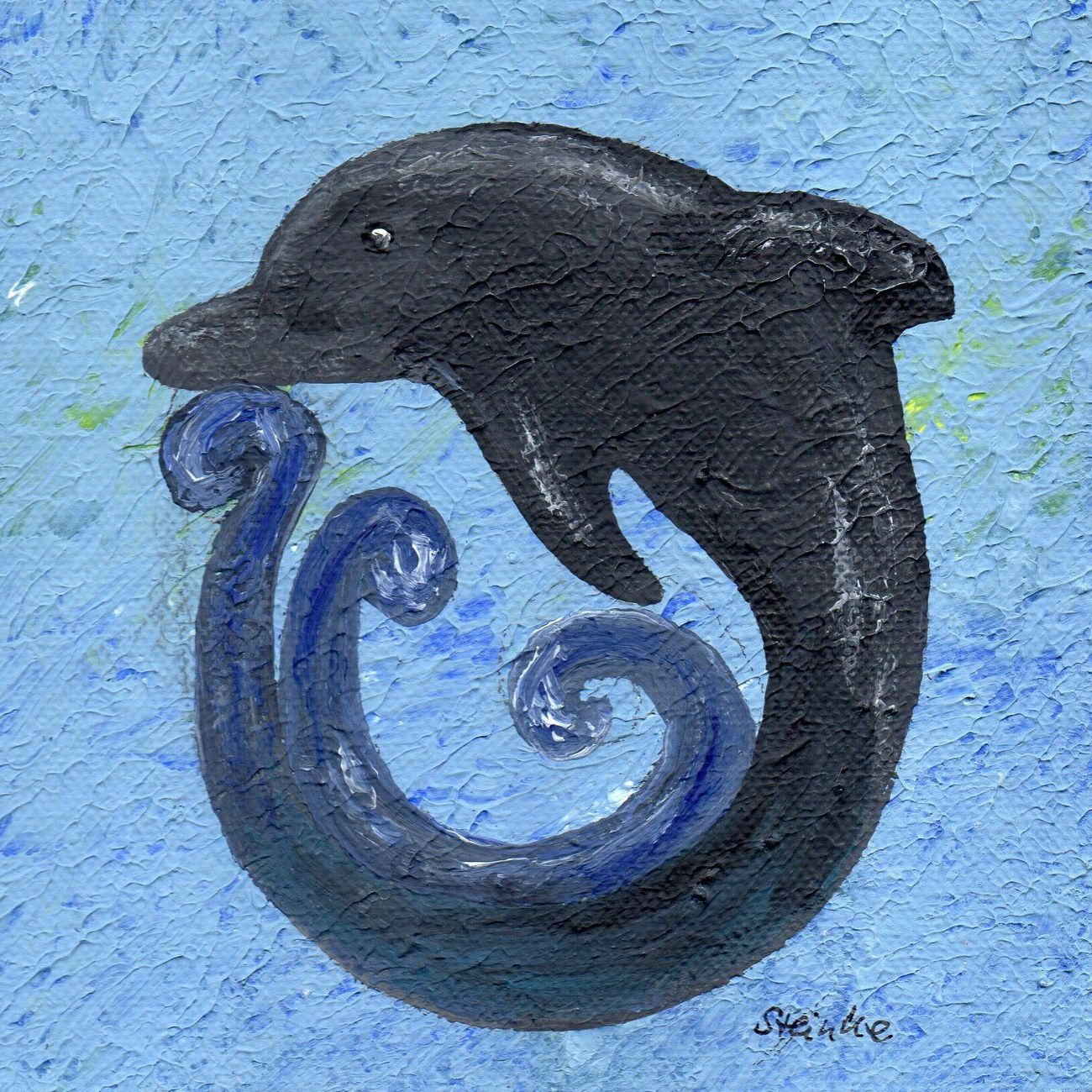Dolphin the maori-symbol for friendship and love and living in and at ocean ... Delfin- symbol der maori ( Ureinwohner Neuseelands) acryl auf Leinwand Spiritual Spirituality Dolphin Symbol Ocean Art Kunst Acrylic Painting Drawing Paintings