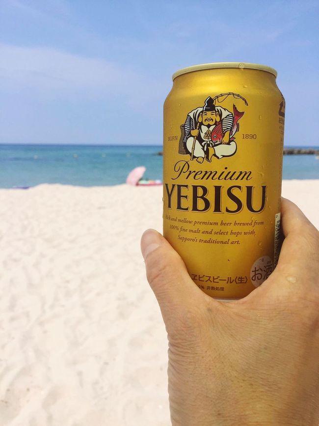 海でYEBISU☆ ビール えびす YEBISU キャンプ 海