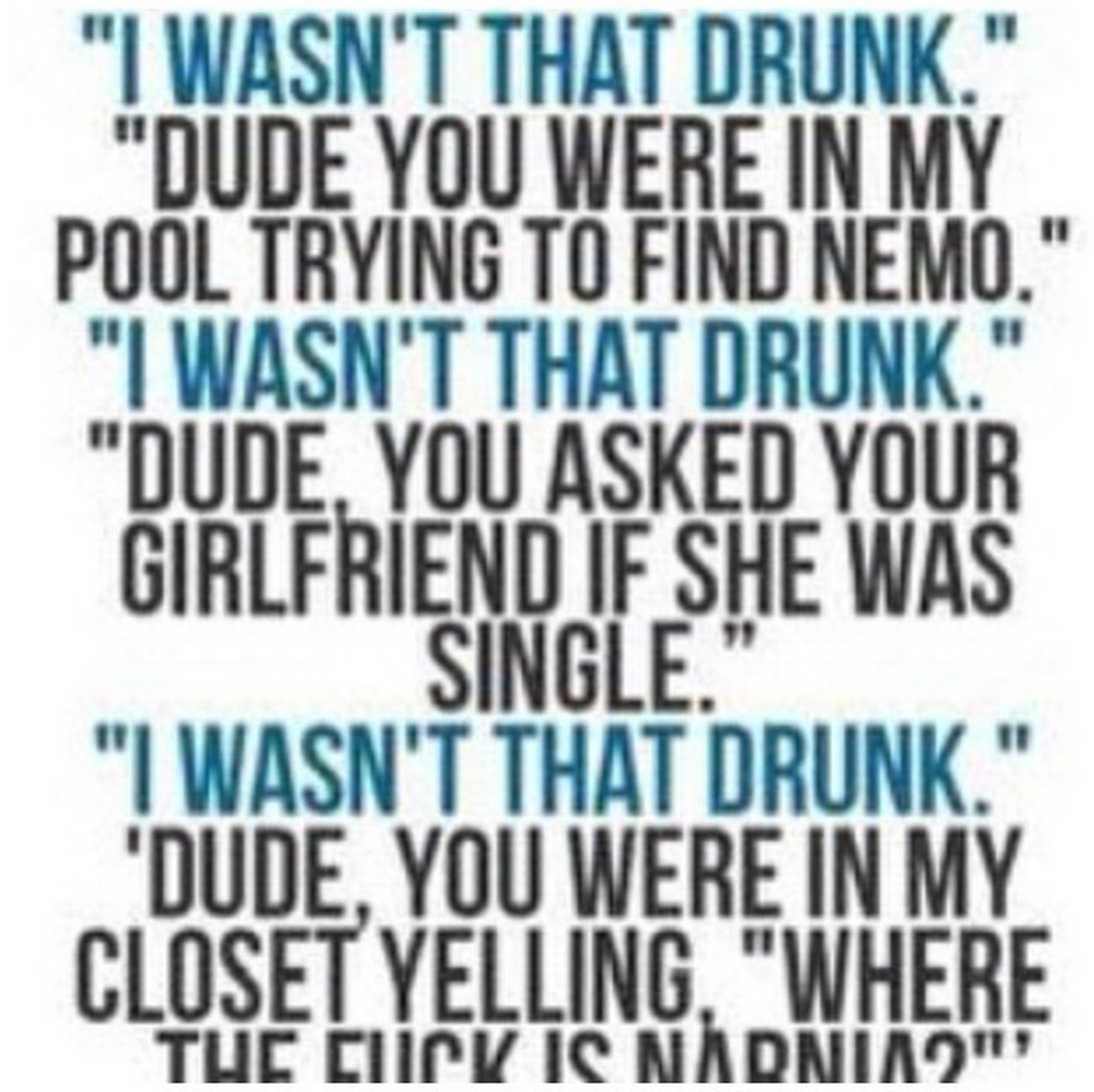 Being Drunk