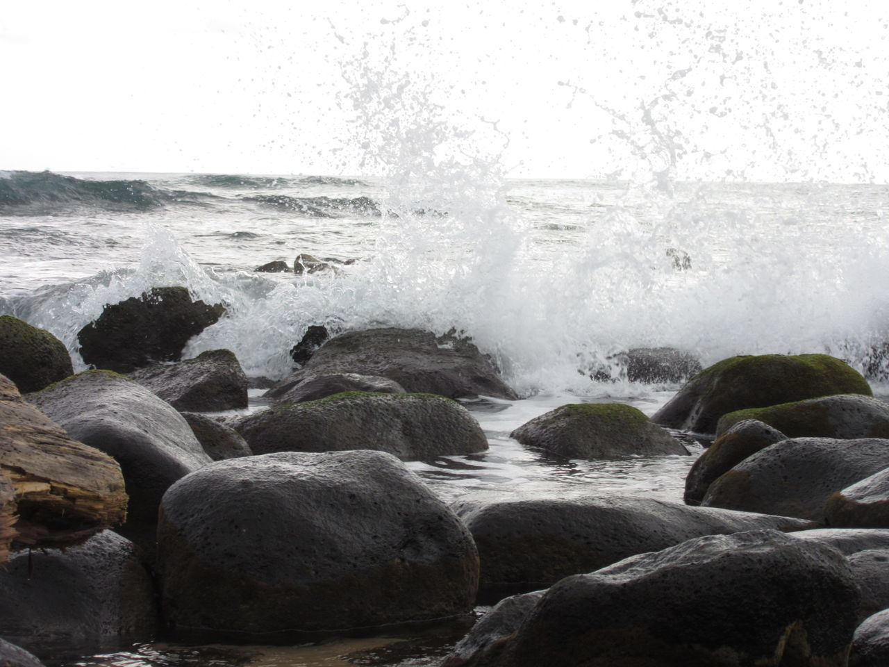 Beach Nature Water Beauty In Nature Motion Splashing Rocks And Water