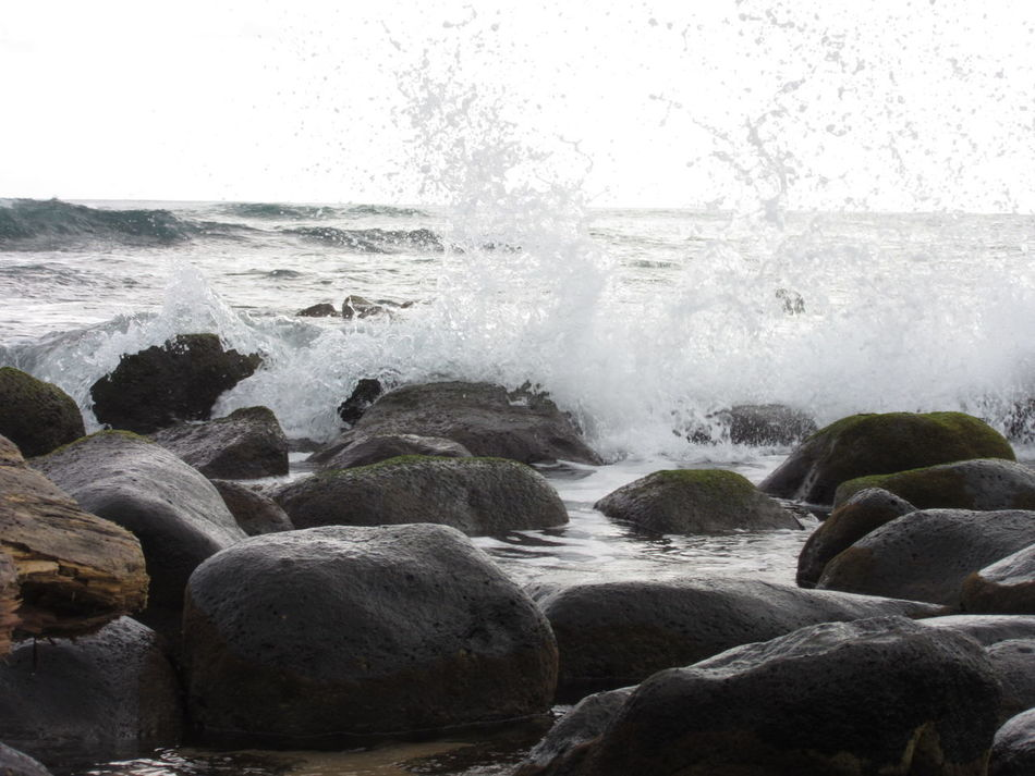 Beach Nature Water Beauty In Nature Motion Splashing Rocks And Water