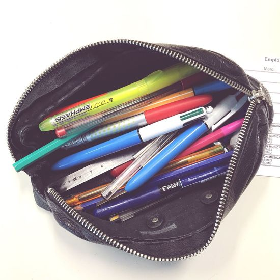 Going to work Education Multi Colored Still Life White Background Pencil Variation Choice Indoors  No People Studio Shot Pencil Sharpener Crayon Desk Organizer Close-up IPhoneography Shootermag Shootermag_france